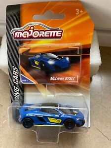 MAJORETTE RACING CARS McLAREN 675 LT BLEU 1/64