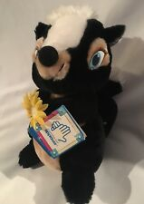 VINTAGE DISNEY APPLAUSE BAMBI FLOWER SKUNK Friend PLUSH TOY With Tags!