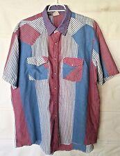 Pearl Button Western Frontier Men's Short Sleeve Shirt 65% Poly/35% Cotton Sz XL