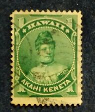 Hawaii - 1 cent green - cancelled, hinged
