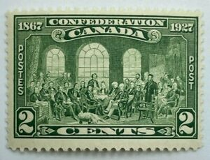 1927 CANADA FATHERS OF CONFEDERATION 2¢ STAMP, MINT NEVER HINGED MNH, Scott #142