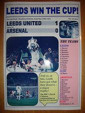 Leeds United 1 Arsenal 0 - 1972 FA Cup final - souvenir print