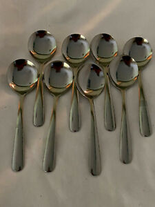 Walco Stainless 7212  8-Piece Medium Windsor Bouillon Soup Spoons