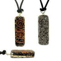 Orgone Healing Pendant Adjustable Cord Black Tourmaline Necklace EMF Protection