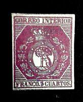 1853 España Edf Nº 23  Tres Cuartos de Bronze, Escudo de Madrid  20400$ Replica