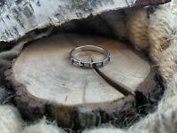 Ring für Frau aus 925 Silber Verlobungsring Rosenkranz Überqueren Religiöse