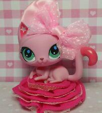 Littlest Pet Shop Katze #2851 Pink Shorthair Cat Kitty & Accessoires Zubehör rar