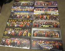 NASCAR GOODYEAR POSTER LOT 2004 - 2015 COLLECTION  OF 12 POSTERS - 12 years