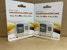 8 GB MICRO SD CARD WITH SD ADAPTER 2 PACK