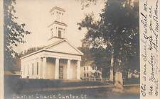CANTON, CT ~ BAPTIST CHURCH ~ REAL PHOTO POST CARD ~ c. 1906