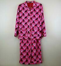 Nick and Nora Scottie Dog Pink Sleep Pajama set Girls Size XL or Women's size S