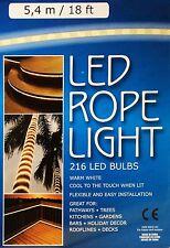 0.16 piedi Warm White LED luce FUNE 5.4 m 240V Decking CUCINE percorsi TETTO WOW!