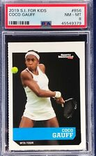 Coco Gauff 2019 Sports Illustrated For Kids SI Kids Rookie PSA 8