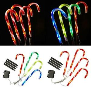 Christmas Candy Cane Pathway Lights LED Outdoor Garden Xmas Decoration P3S5