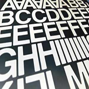 """1""""  STICKY BACK SELF ADHESIVE VINYL LETTERS AND NUMBERS DIY (WHITE QTY 140 + )"""
