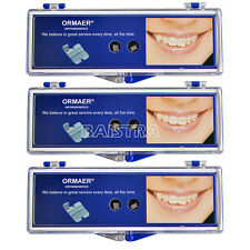 3* ORMAER Dental Orthodontic Ceramic Brackets 20PC/Kit Roth 022 5*5 Hooks 345 IT