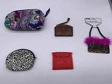 5 Women's Vera Bradley/Unbranded Multicolored/pattern Makeup bags/Change Purses