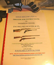 BELLM TC Thompson Center Encore ProHunter Endeavor FX G2 Trigger Job Manual