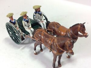 Modern Metal Water Cart with Sailors in sennet hats.