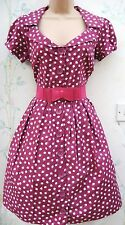 Taille 12 Apple PRN Rétro Kitsch PIN UP Années 50 Tea Dress Summer Cotton # US 8 EU 40