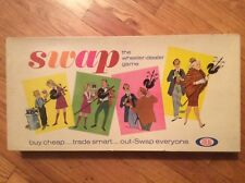 """VINTAGE 1965 IDEAL TOY CORP. """"SWAP"""" THE WHEELER-DEALER GAME , 100% COMPLETE"""