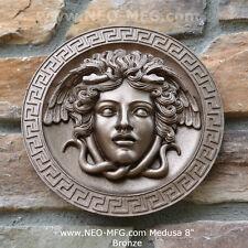 "History Medusa Versace Rondanini design Artifact Carved Sculpture Statue 8"" Bron"