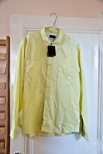 Paul Smith Jeans Shirt, L Size, Yellow and White Stripes