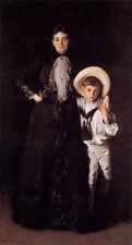 Oil John Singer Sargent - Mrs. Edward L. Davis and Her Son Livingston canvas