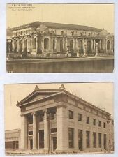 1915 PAN-PACIFIC INT EXPO SF 2 OLD POSTCARDS YWCA BLD & MISSION BANK PC7518