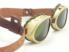 Steampunk Goggles Real Brass Steam Punk Glasses Sunglasses Cosplay LARP