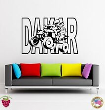 Wall Stickers Vinyl Dakar Quad Speed Racing Extreme Sport  (z1670)