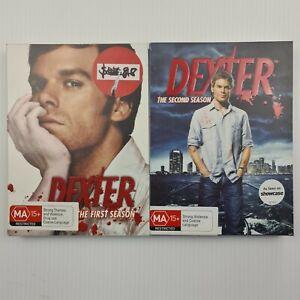 Dexter Season 1 & 2 DVD Slip Case - Region 4 PAL - FREE TRACKED POSTAGE