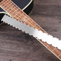 466F 4369 Guitar Neck Notched Ruler Measuring Tool Fret Board Straight Edge