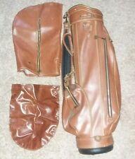 Rare Vintage Brown  Leather Miller Golf Bag. Excellent Condition