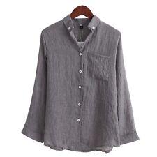 Chemisier Women Tops Fashion Autumn Linen Shirt Long Sleeve Blouse Korean Casual