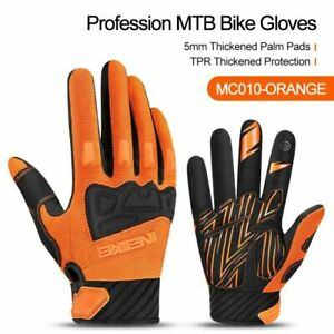 Men Cycling Gloves Touch Screen Shockproof Full Fingers Reflective Winter Mitten