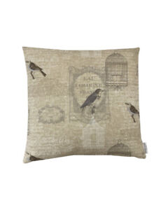 """16"""" Fryetts Vichy Vintage Bird cages scatter cushion covers sham made in UK"""