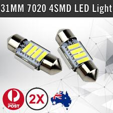 2X 12V 31MM FESTOON 7020 4 LED CAR UTE 4WD INTERIOR DOME MAP LIGHT BULB GLOBE