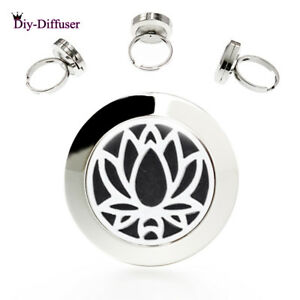 20MM Aromatherapy Perfume Ring Diffuser Locket Finger Ring Stainless Steel