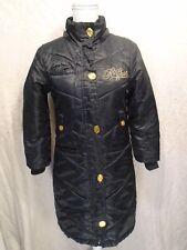 Rocawear Women's Black Size Medium Double Zipper Jacket/Coat, Gold Hardware