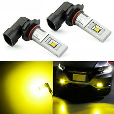 JDM ASTAR 2x Golden Yellow 1200Lm H10/9145 CSP LED Fog Running Light Bulbs Lamps