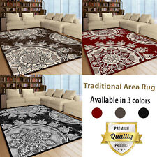 Traditional Large Area Rugs Vintage Style Bedroom Living Room Oriental Design UK