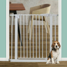 30.7'' Pet Dog Safety Gate Fence Walk Through Baby Gate Stair Security W/Door