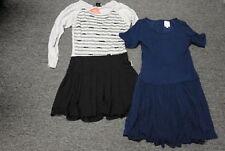 ELLA MOSS/FLOWERS BY ZOE Lot Of 2 Blue Black Gray Girl's Dresses Sz L/14 FF2830