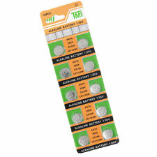 10PCS PILE AG10/LR1130 1.55V Button Coin Cell Alkaline Batteries BOTTONE New