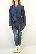 FATE Black & Blue Wrap Drape Jacket Size 14