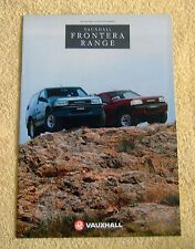 Vauxhall Frontera Range highlights 1992 Models No2 inc Sport & Estate