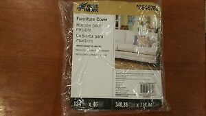 Furniture Cover Protector Blue Hawk 0648768 134 in x 46 in - plastic - NEW!