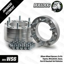 Bulldog Toyota HILUX All Mk's Wheel Spacers X 4 30mm Jap 6 Stud Fitment