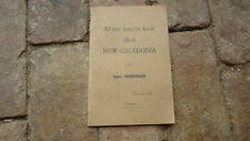 1942 NEW CALEDONIA PACIFIC ISLAND TOURISM HISTORY BOOKLET, 30 PAGES